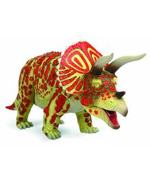 Geoworld Jurassic Action Triceratops Dinosaur Figure - Green And Red