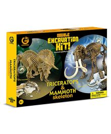 Geoworld Double Excavation Kit Triceratops And Mammoth Skeleton