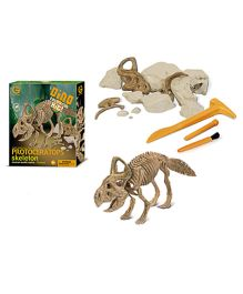 Geoworld Dino Excavation Kit Protoceratops Skeleton - 13 Pieces