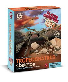 Geoworld Flying Monsters Tropeognathus Skeleton Excavation Kit - 13 Pieces