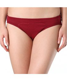 Adira Cotton Period Panty Hipster - Maroon