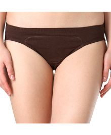 Adira Cotton Period Panty Hipster - Brown