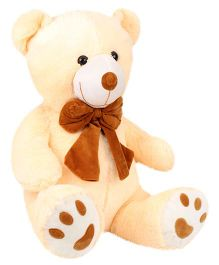 Natkhat Bow Teddy Bear Soft Toy Cream - 48 cm
