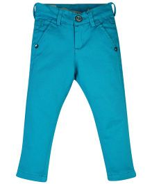Vitamins Full Length Solid Colour Pant - Blue