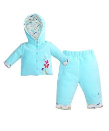 FS Mini Klub Long Sleeve Hooded Full Length Set - Aqua Blue