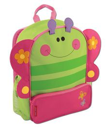 Stephen Joseph Sidekicks Backpack Butterfly Green And Pink - Height 12.75 Inches