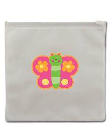 Stephen Joseph Reusable Snack Bag Butterfly Set Of 2 - White