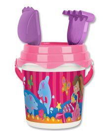 Stephen Joseph Beach Bucket Set Dolphin And Mermaid - Multicolor