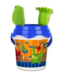 Stephen Joseph Beach Bucket Set Alligator And Crab - Multicolor