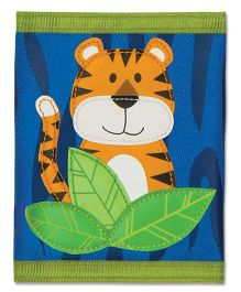 Stephen Joseph Wallet Tiger - Blue And Orange