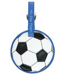 Stephen Joseph Luggage Tag Soccer - White And Black