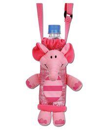Stephen Joseph Bottle Holder Buddies Elephant - Pink