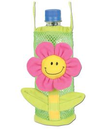 Stephen Joseph Bottle Holder Buddies Flower - Green And Pink
