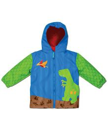 Stephen Joseph Hooded Raincoat Dino - Blue And Green