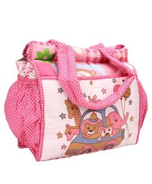 Duck Mother Bag Animal And Car Print - Pink
