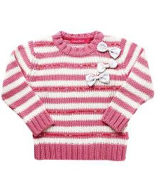 Wingsfield Full Sleeves Striped Sweater - Pink