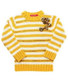 Wingsfield Full Sleeves Striped Sweater - Yellow