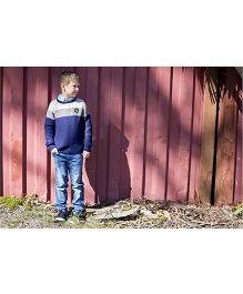 Pinehill Waffle Knit Pullover Sweater - Deep Indigo Blue