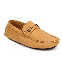 Doink Slip-On Leather Casual Shoes  - Light Brown