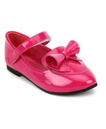 Doink Belly Shoes Bow Design - Fuchsia Pink