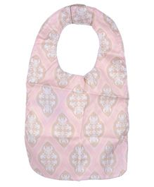 Ju.Ju.Be Be Neat Reversible Baby Bib Blush Frosting Print - Pink And Beige