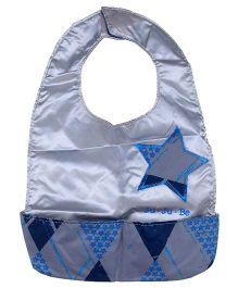 Ju.Ju.Be Be Neat Reversible Baby Bib Star Print - Blue