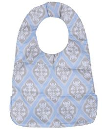 Ju.Ju.Be Be Neat Reversible Baby Bib Blush Frosting Print - Light Blue