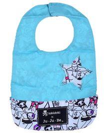 Ju.Ju.Be Be Neat Reversible Baby Bib Printed - White And Blue