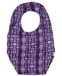 Ju.Ju.Be Be Neat Reversible Baby Bib JuJuberry Squares Print - Purple