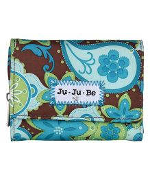 Ju.Ju.Be Be Thrifty Wallet Drip Drops Print - Brown And Blue