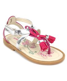 Kittens Party Wear Sandals Velcro Closure - Pink
