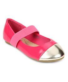 Kittens Dual Color Belly Shoes - Pink And Silver