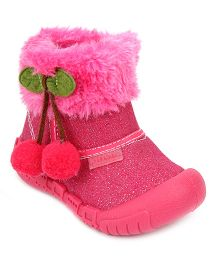 Kittens Ankle Length Boots - Pink