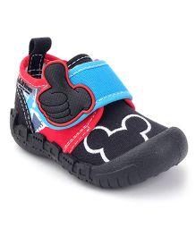 Kittens Canvas Velcro Closure Sneakers - Black
