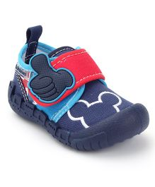 Kittens Canvas Velcro Closure Sneakers - Blue