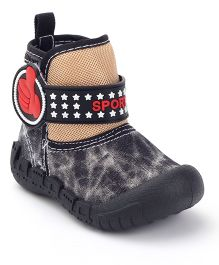 Kittens Canvas Ankle Length Boots - Black