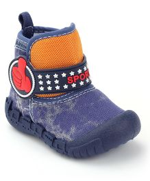 Kittens Canvas Ankle Length Boots - Navy Blue