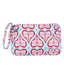 Ju.Ju.Be Be Quick Wristlet Bag Hearts Print - Blue And Red