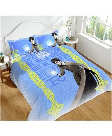 DCTex Furnishings 220 TC Cotton Harry Potter King Bed Sheet - Multicolour