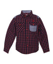 Tales & Stories Black Checkered Shirt