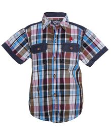 Tales & Stories Pink Checkered And Striped Shirt
