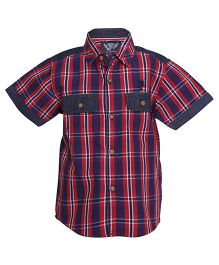 Tales & Stories Red Checkered And Striped Shirt