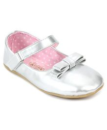 Doink Belly Shoes Bow Design And Polka Dots Print - Silver