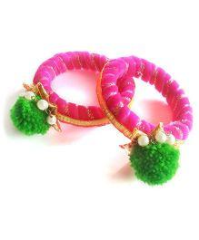 Ethnic Bangles - Pink