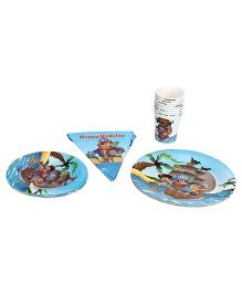 Themez Only Birthday Kit Pirate Theme - Blue