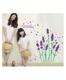 Studio Briana Purple Dandellion Floral Nature Wall Art Sticker