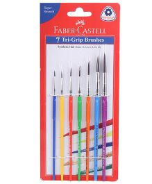 Faber Castell Triangular Grip Paint Brushes - Pack Of 7