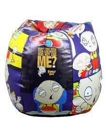 Orka Bean Bag Filled Cartoon Printed Multicolor - XL
