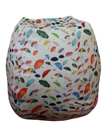 Orka Bean Bag Filled Umbrella Printed Multi Color - XL
