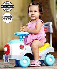Babyhug Fun N Learn Ride-On - Yellow And Blue